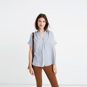 Madewell Central Shirt Chambray Stripe S EUC